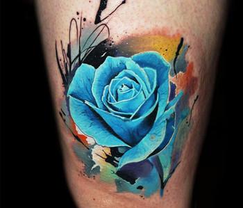 18 Exquisite Blue Rose Tattoos | Tattoodo