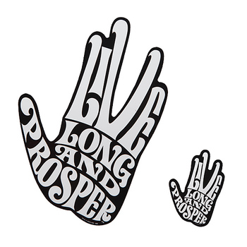 Live Long & Prosper: Spock Car Decal