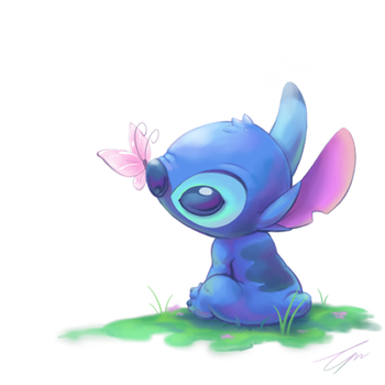 Stitch's spring by takeclaire on deviantART