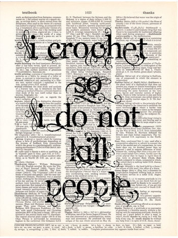 Crochet Art Print Crocheting Crochet Quote by Vintagraphy on Etsy