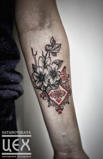 15 Splendid Embroidery Tattoos | Tattoodo.com