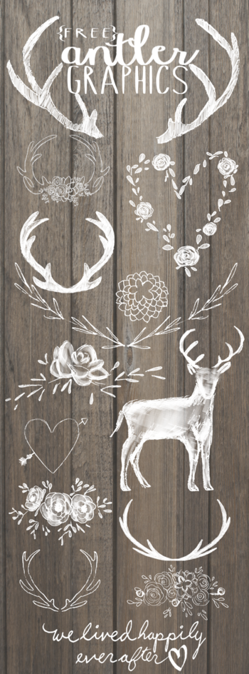 We Lived Happily Ever After: Free Antler Graphics