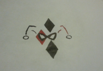 Harley Quinn symbol drawing