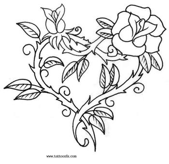 Image detail for -Swirly Rose Tattoo Design By ~PurrpleCatt On DeviantART