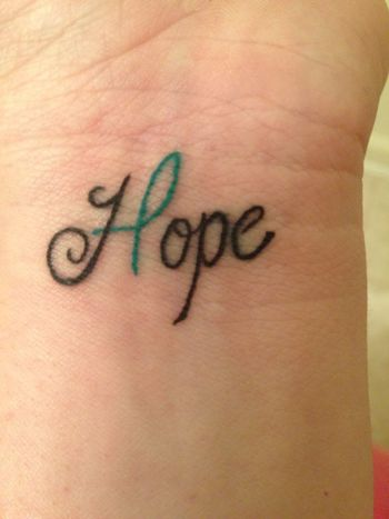 10 Best Hope Tattoo Designs  - Pretty Designs