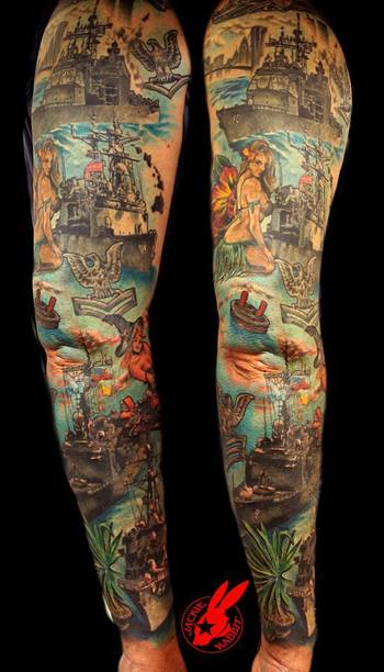 FYeahTattoos.com — Custom tattoo by Jackie Rabbit...