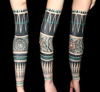 50 Amazing Blackwork Tattoos | Tattoos Mob