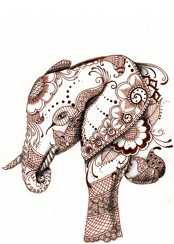 Elephant Art Print by Elisa Camera | Society6