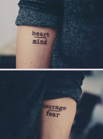 12 Super Simple Quote Tattoos for Girls - Pretty Designs