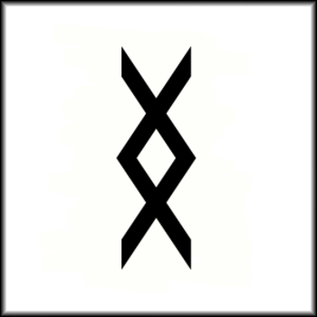 """Inguz, viking symbol means """"where there is a will, there is a way"""" I found this symbol one day, forgo"""