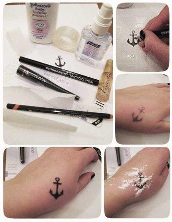 Fake tattoo tilraunir....