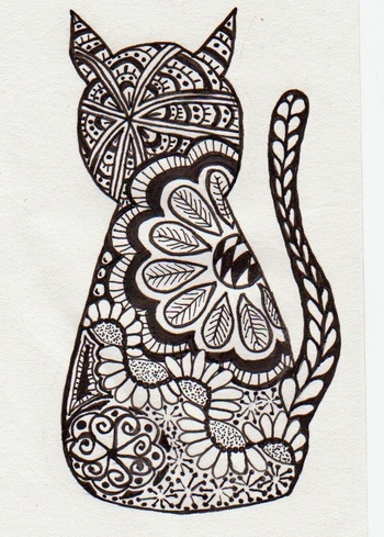Art: Cat Zentangle