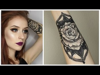 HOW TO: FAKE TATTOO WITH MAKEUP | Two Products