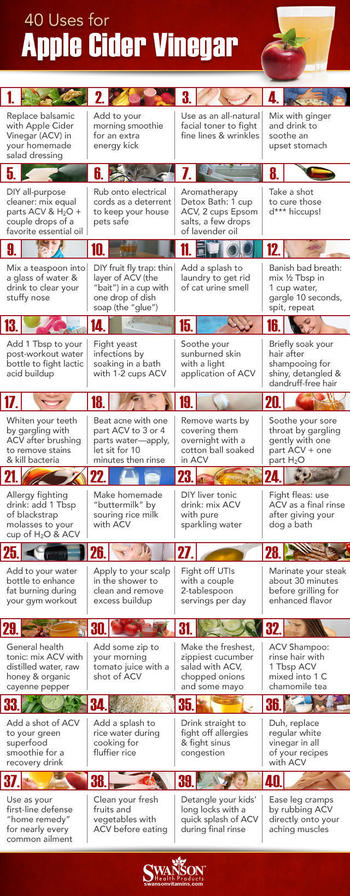 Amazing List Of 40 Uses For Apple Cider Vinegar – Plus Instructions On How To Use It! - Health Herbs365