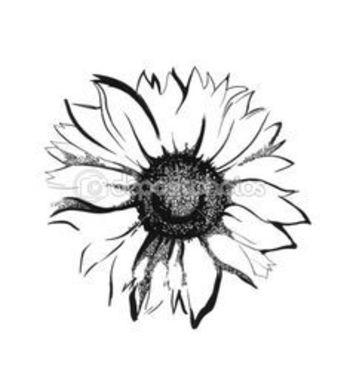 small sunflower tattoo -behind ear