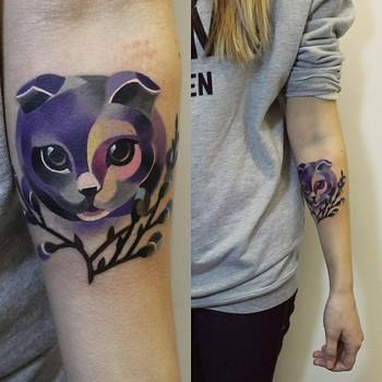 202 sasha unisex tattoo cat