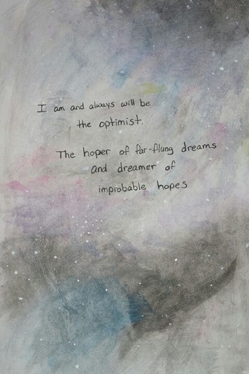 Doctor Who quote on watercolors :)