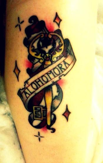 My Harry Potter Tattoo - By Marcy at Dragstrip Tattoos (Southampton, England) - Imgur
