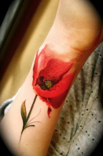 20 Amazingly Colorful Flower Tattoo Designs