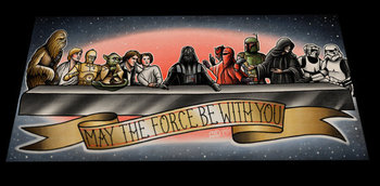 May The Force Be With You Tattoo flash