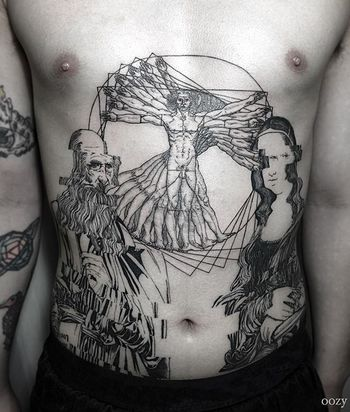 12 Creative Vitruvian Man Tattoos | Tattoodo.com