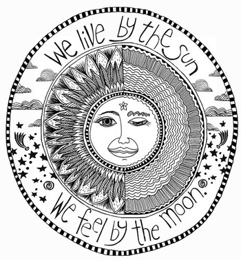 """pinner said:Like the saying but change it to """"we live by the sun, we love by the moon"""" wow thats"""
