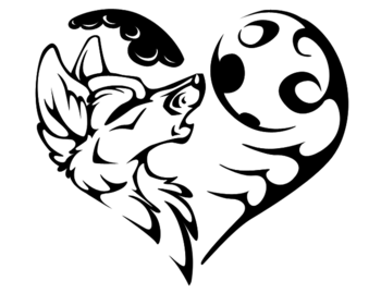 Tribal Wolf And Heart - ClipArt Best
