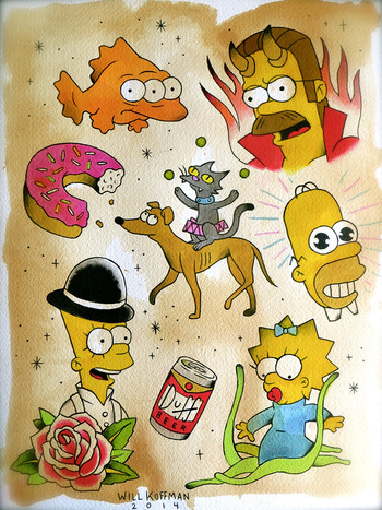 The D'oh Show - SIMPSONS TATTOO SPECIAL! In honor of the D'oh Show, a Simpsons themed art show at Tar