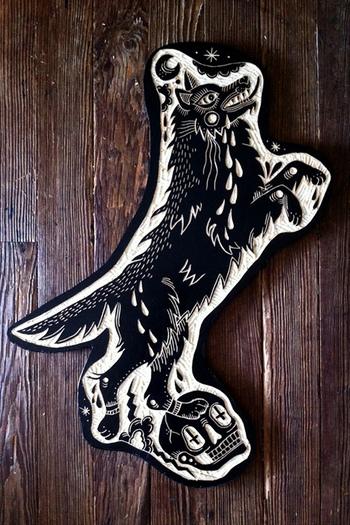 Tattoo Wood Carvings by Bryn Perrott