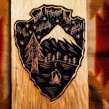 straightintoastorm: Arrowhead woodcut.
