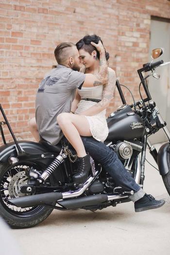 Photo by Amy Cloud Photography, Salt Lake City Utah. Engagements. Wedding. Harley Davidson. Motorcycl