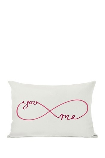 "Infinite You Me Throw Pillow - Red/Pink - 14"" x 20"""