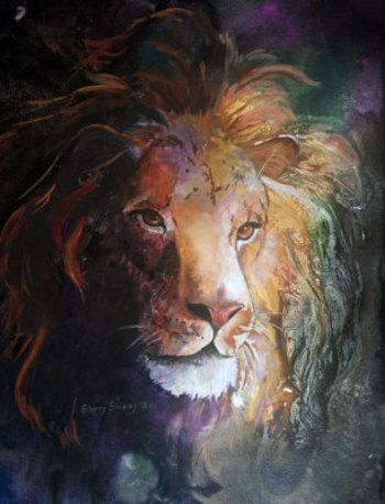 Jungle Lion Painting at ArtistRising.com