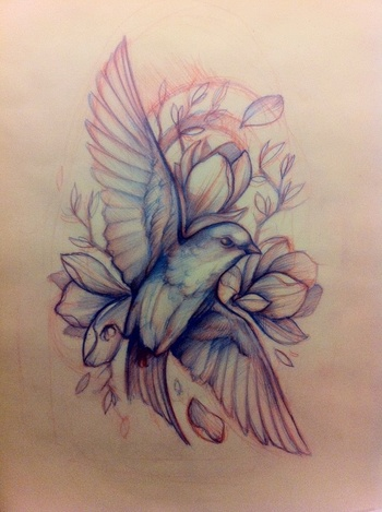 A Bird for my grandma. But most likely her favorite Bird Tattoo Ideas | tattoos picture tattoo sketch