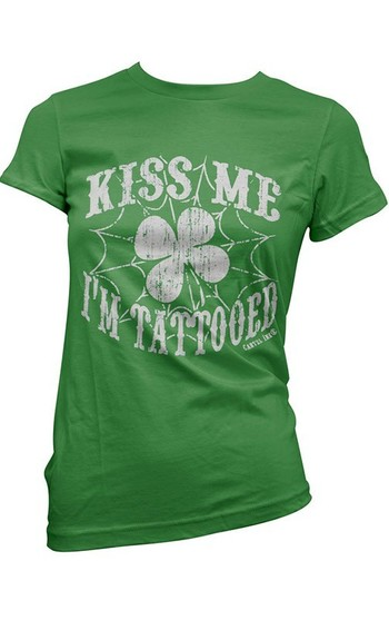 Women's Kiss Me I'm Tattooed Tee by Cartel Ink - I need this!!!