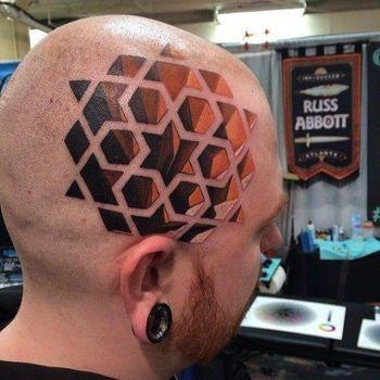 50 Fantastic Scalp Tattoos | Tattoodo.com
