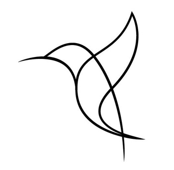 This would make a pretty and simple tattoo. In memory of my bird living mother and the many hummingbi