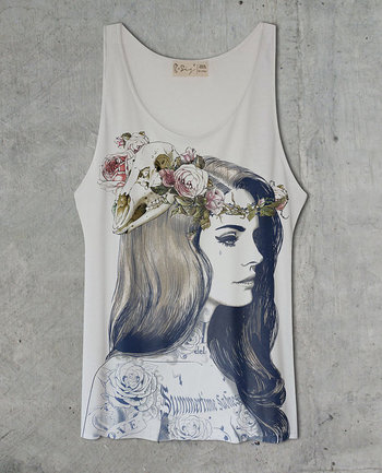 Lana Del Rey Tattoo Off White Tank Top Shirt by tSig36 on Etsy, $14.99