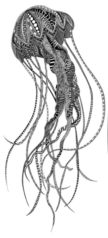 Jellyfish Art Print by Lindsay MKE | Society6
