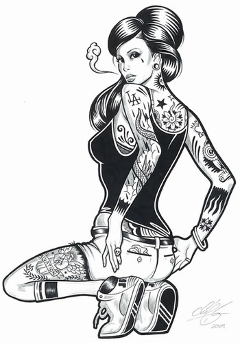 Here's Some Lovely Tattooed Pinup Girl Art