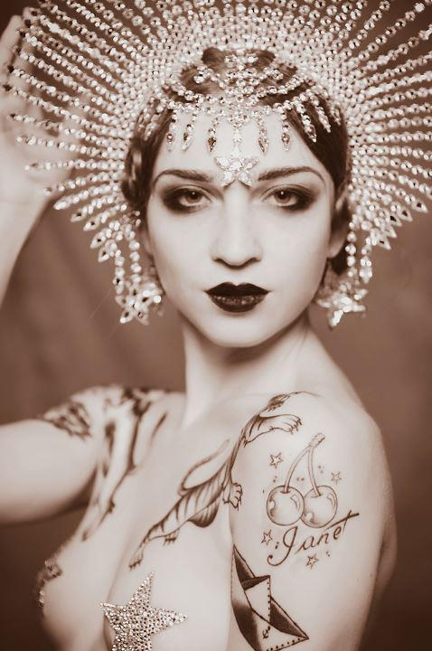 Gorgeous art deco face love this headpiece but it certainly evokes a specific time no original