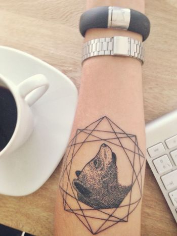 Bear Tattoo By Karolina Bebop | Best tattoo design ideas