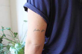 Miso: Home-Made tattoos: Feelin' Fine for Hana, traded for a CRASS shirt: Melbourne, 2014