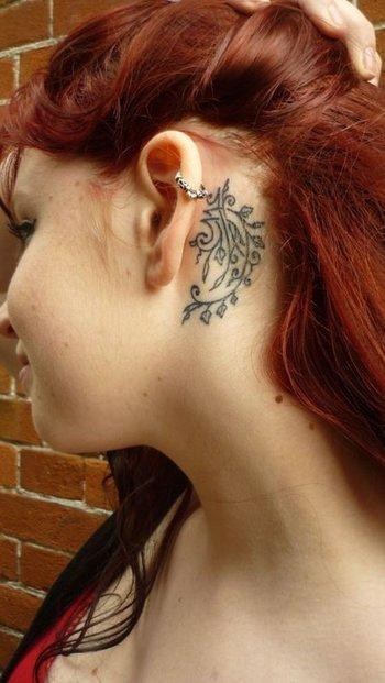 55 Incredible Ear Tattoos | Art and Design