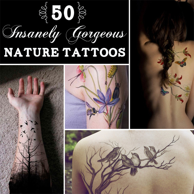 50 insanely gorgeous nature tattoos original