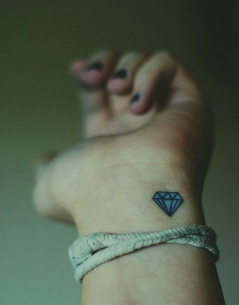 Best Diamond Tattoo Designs | InkDoneRight These dazzling gemstones are the most treasured in the wor