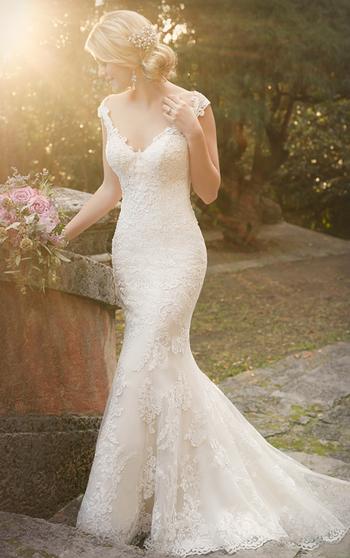 Gorgeous Satin Wedding Dress by Essense of Australia | Style D1977
