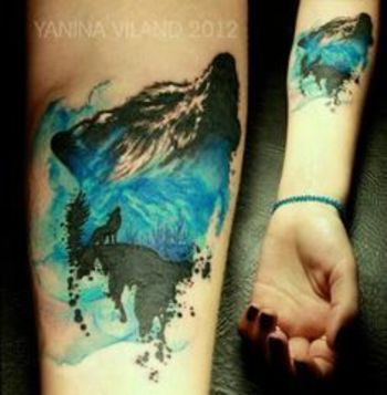 abstract wolf tattoos - Google Search
