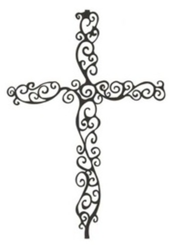 cross tattoo with jonathan mixed in the design@ aleisha Appin