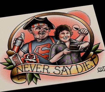 Never Say Diet Tattoo Art print